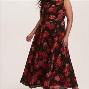 Floor Length Floral Print Formal Dress